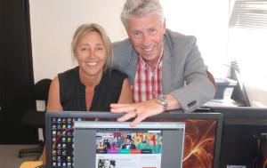 Generalsekretær Helen Hansen og nettredaktør Ivar Ødegaard er glade for nye nettsider.