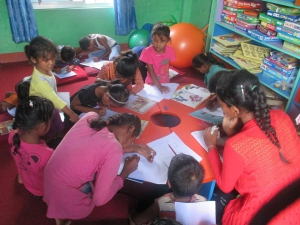 Fra et læringssenter i Nepal