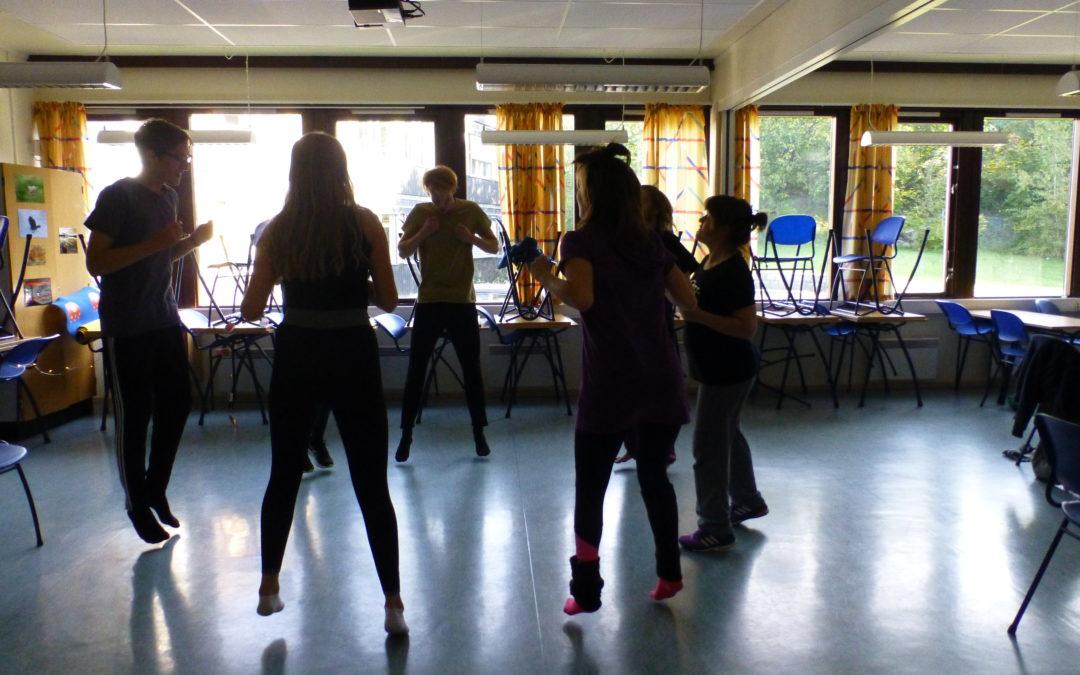 Det skjer mye spennende læring når man øver til en teateroppsetning!